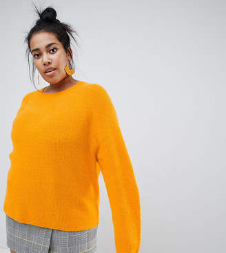 Asos DESIGN Curve fluffy sweater in rib
