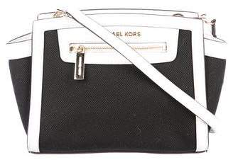 MICHAEL Michael Kors Leather-Trimmed Canvas Selma Crossbody Bag