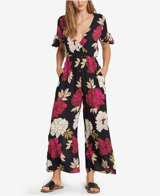 Billabong Juniors' Floral-Print Surplice-Neck Jumpsuit