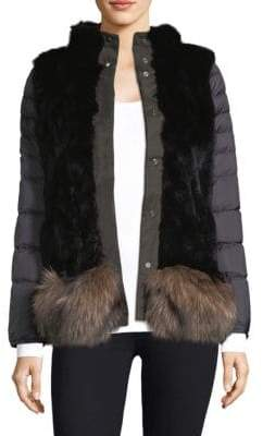 Post Card Reversible Quilted Fur Jacket