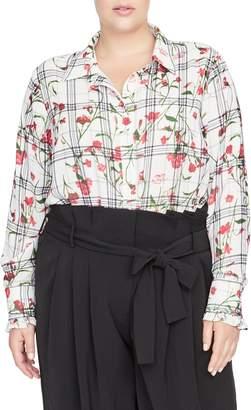 Rachel Roy Collection Lucia Button-Up Blouse