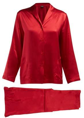 La Perla Silk Satin Pyjamas - Womens - Red