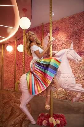 Little Mistress Unity Metallic Rainbow Pleated Skirt