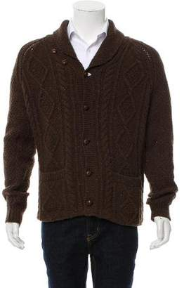 Co RRL & Cable Knit Cardigan