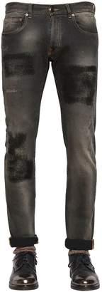Etro 17cm Slim Fit Patch Effect Denim Jeans
