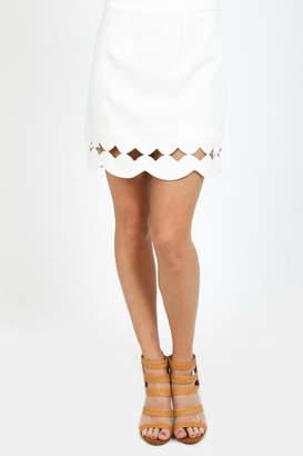 Very J Scallop Hem Skirt