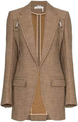 Chloé clip on strap wool blazer