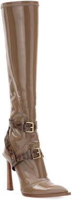 Fendi Neoprene To-The-Knee Boots, Brown