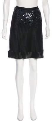 Vivienne Tam Sequin Accent Skirt