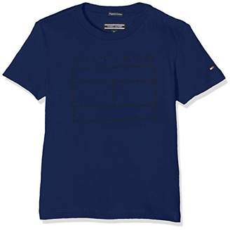 Tommy Hilfiger Boy's AME LOGO CN TEE S/S Regular Fit Short Sleeve T-Shirt,(Manufacturer Size: 3)
