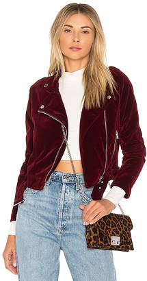 by the way. Malaya Velvet Moto Jacket
