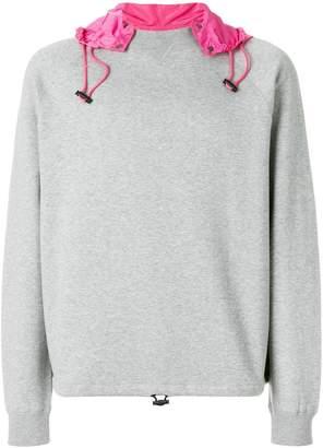 Valentino contrast hood sweatshirt