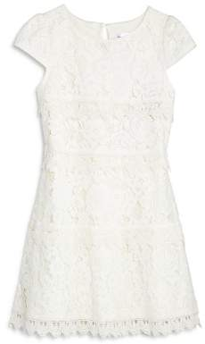Us Angels Girls' Tiered Lace Dress - Little Kid