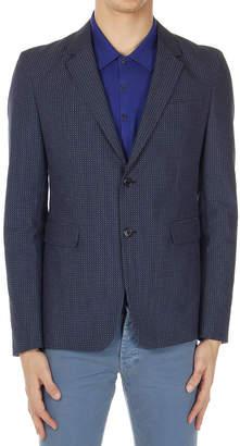 Prada (プラダ) - PRADA BALTIC ジャカード ノッチドラペル ジャケット ブルー 48