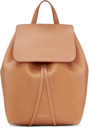 Mansur Gavriel Tan Leather Mini Backpack $675 thestylecure.com