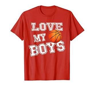 Basketball Shirt for Moms-Basketball Mom TShirt-Love My Boys