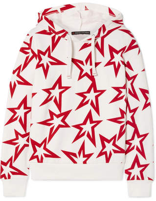 Perfect Moment Starlight Printed Cotton-jersey Hoodie - White
