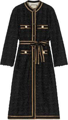 Gucci Tweed coat with decorative trim
