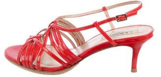 LK Bennett Patent Leather Peep-Toe Sandals