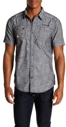 ProjekRaw Projek Raw Textured Short Sleeve Modern Fit Shirt