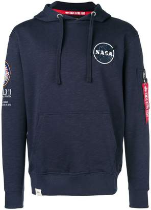 Alpha Industries 'Nasa' hooded sweatshirt