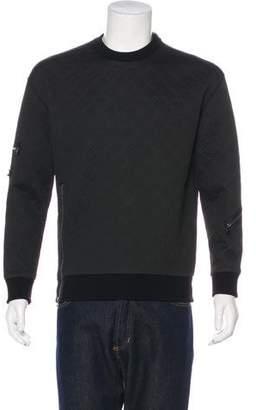 3.1 Phillip Lim Zip-Accented Neoprene Sweatshirt