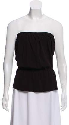 Gucci Strapless Buckle-Accented Top