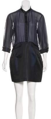 Pierre Balmain Semi-Sheer Mini Dress