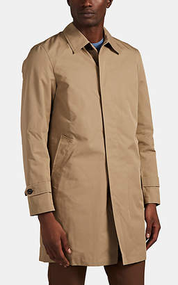 BEIGE Sealup Men's Cotton-Blend Gabardine Raincoat - Beige, Tan