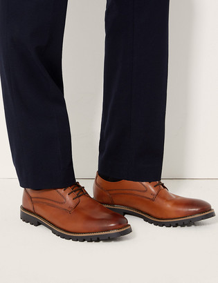 Marks and Spencer Leather Derby Lace-up Shoes