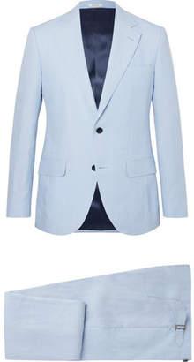 Husbands Light-Blue Slim-Fit Linen Suit
