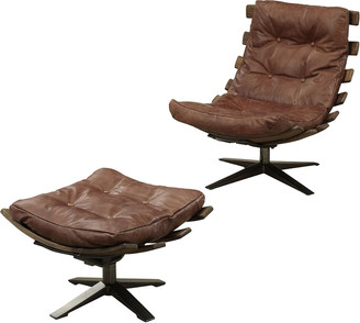ACME Furniture Acme Gandy 2Pc Chair & Ottoman