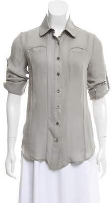 Billy Reid Sheer Collared Shirt
