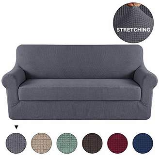 Turquoize Grey Sofa Slipcover Stretch High Spandex Sofa Cover/Lounge Covers/Couch Covers Furniture Covers for 3 Seater Cushion Cover Stretch