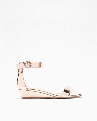 Express Simple Sliver Wedge Sandals