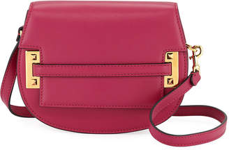 Valentino Garavani Leather Crossbody Saddle Bag