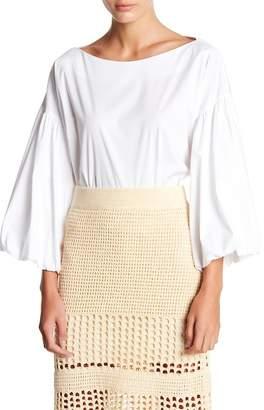 BCBGMAXAZRIA Shirred Puff Sleeve Blouse