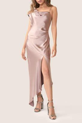 ABS by Allen Schwartz Satin Midi Dress
