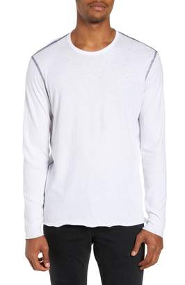Rag & Bone Contrast Stitch Long Sleeve T-Shirt