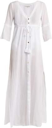 Heidi Klein Portofino tie-front cotton cover-up