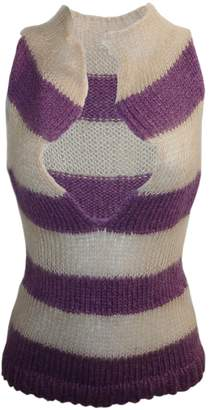 Claire Andrew - Striped Knit Top with Open Neck