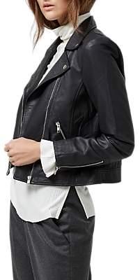 Selected Marlen Leather Jacket, Black
