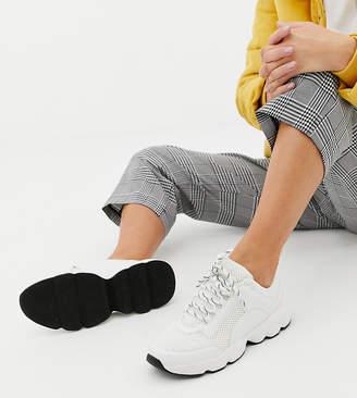 Monki chunky sneakers in white