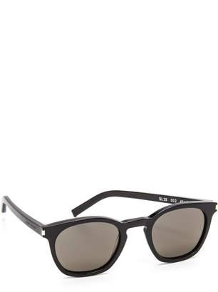 Saint Laurent SL 28 Mineral Glass Sunglasses $365 thestylecure.com