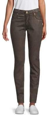 Marilyn Snakeskin-Print Jeans
