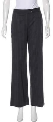 Etro Wool Mid-Rise Wide-Leg Pants