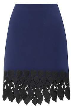 David Koma Embroidered skirt