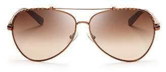 Tory Burch Women's Signature Aviator Sunglasses, 62mm