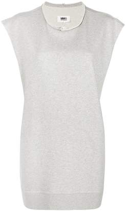 MM6 MAISON MARGIELA oversized sleeveless sweatshirt