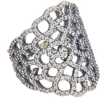 Pandora Shimmering Lace Silver Cz Ring